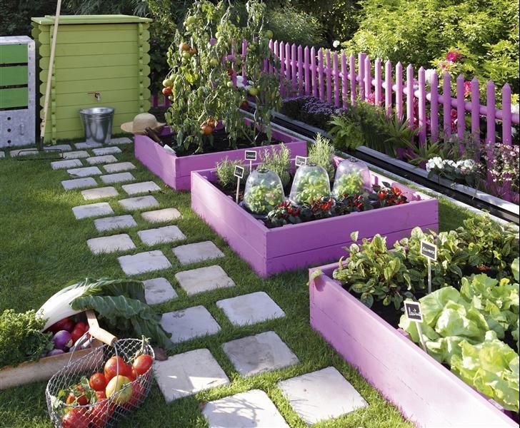 Potager en carré : http://www.m-habitat.fr/amenagement-de-jardin/jardin-potager/les-potagers-en-carre-1976_A #jardin
