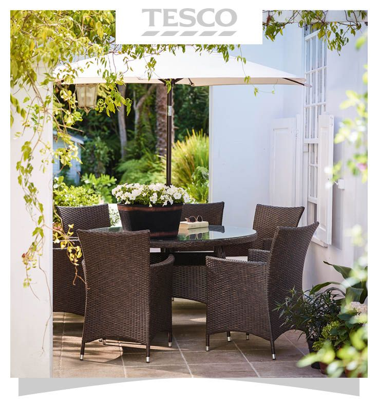 beautiful rattan garden furniture tesco effect bistro set graphite - Rattan Garden Furniture Tesco