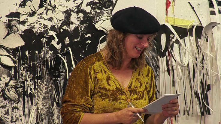 Pauline Meijwaard maakte een gedicht op het InspiratiePodium #17 van het Inspiratiehuisarnhem, 13 november 2013. In het atelier van Anook Cléonne, Arnhem