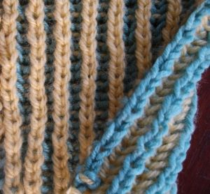 Πλέξιμο Μπριός - Brioche με δύο χρώματα