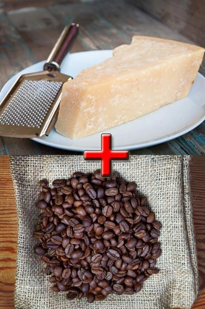 Parmesan cheese and coffee together? Might make a nice arvo snack!