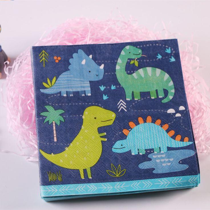 Decorative Dino Party Napkin Pack