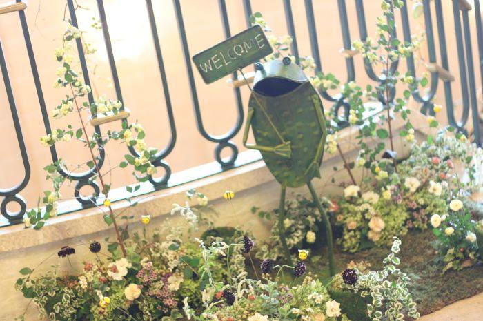 シェ松尾天王洲倶楽部様の装花 ハチミツ&ウェルカムなカエル : 一会 ウエディングの花