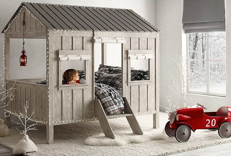 Vintage Industrial Yet Cute Kids' Playroom Ideas 38