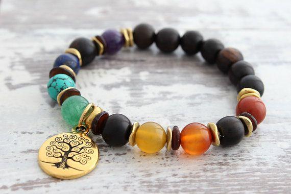 Damen Armband Chakra Armband 7 Chakra Geschenk von PrayLoveYoga