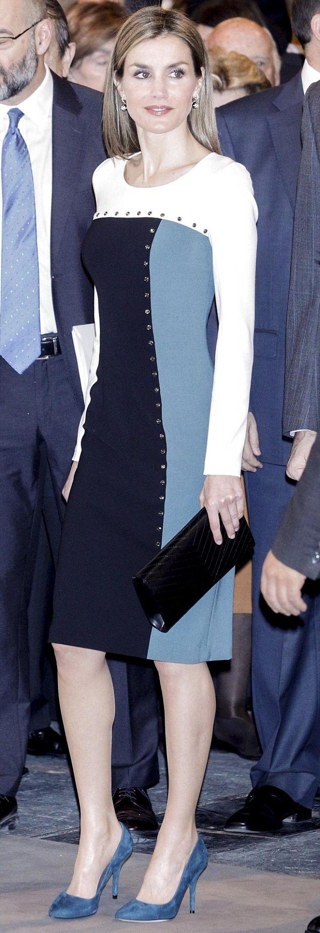 Felipe Varela colour block dress. Debuted Feb 2015