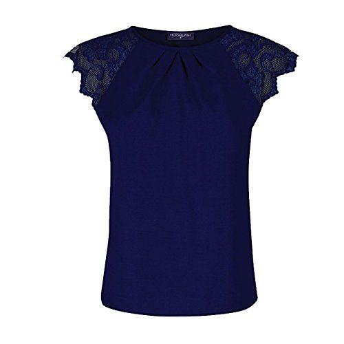 (ホットスカッシュ) HotSquash レディース カジュアルシャツ Crepe top with lace sleeves Navy 18    レディーストップス参考サイズ UK|バスト(cm)|ウエスト(cm)|ヒップ(cm) 6(XS)|30(77)|24(61)|34(87) 8(XS)|32(82)|26(67)|35...
