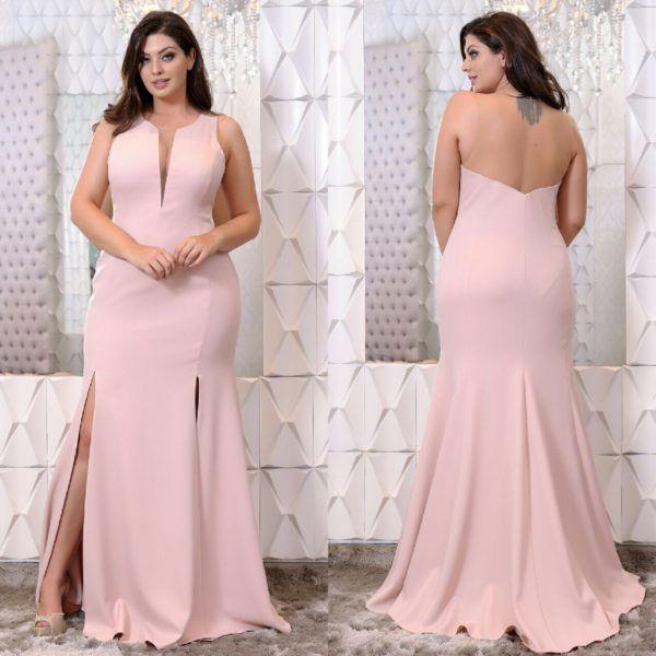 Vestidos Plus Size Fino Traje Moda Festa Moda Festa Vestido