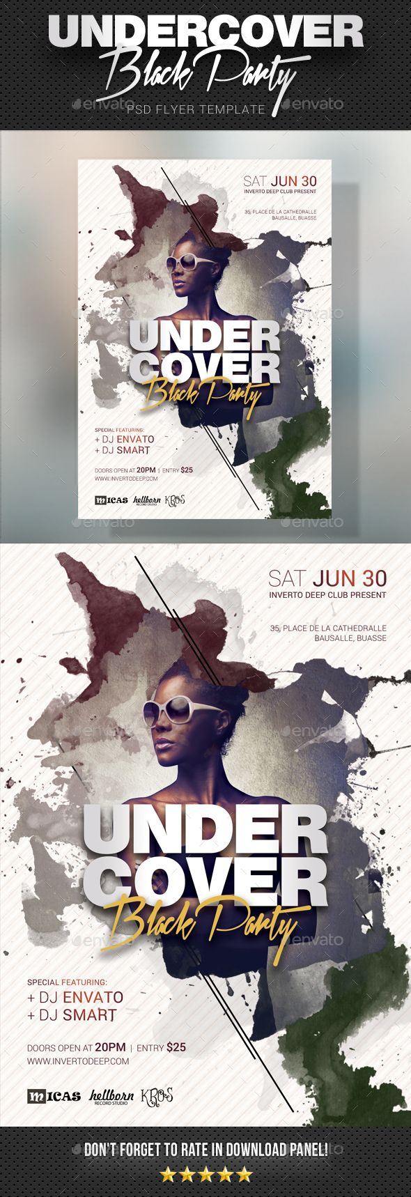 Undercover Party Flyer Event Poster Party Design Poster Poster Layout