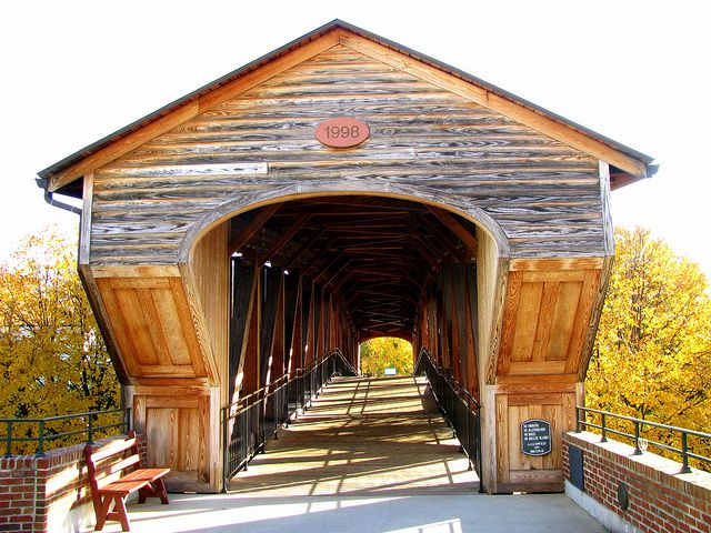 Old Salem Covered Bridge near Winston-Salem, North Carolina...Love it...it reminds me of the bridge in The Bridges Of Madison County...:-)  KSS