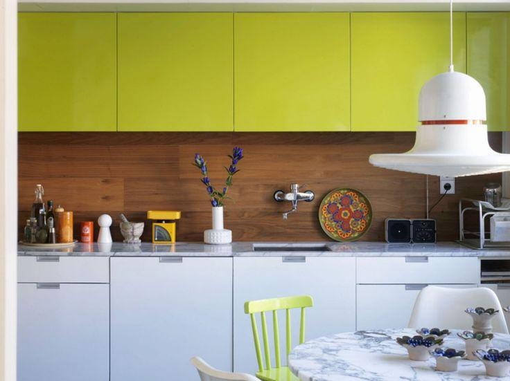 Кухня/столовая в  цветах:   Белый, Голубой, Коричневый, Салатовый.  Кухня/столовая в  стиле:   Минимализм.