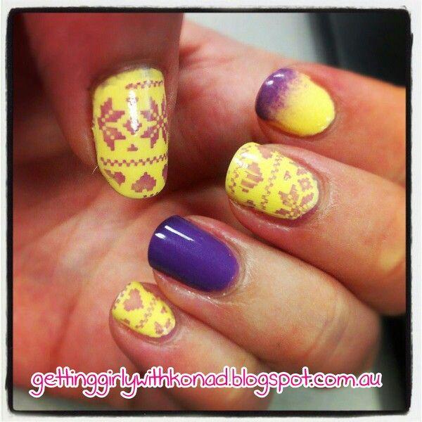 Winter Knitted Sweater - China Glaze 'Lemon Fizz' - Nailz Craze NC03