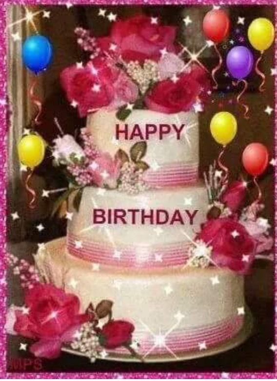 Гифки с тортом ко дню рождения женщине
