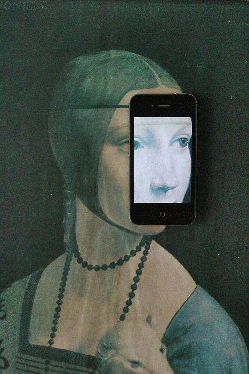 """Femme à l'hermine"" de Léonard de Vinci (parody)"