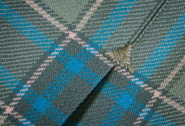 Arrowhead tack tutorial for pleats and splits