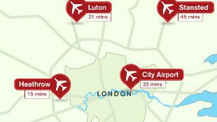 London Airports Guide where they are and transfersfacilities etc