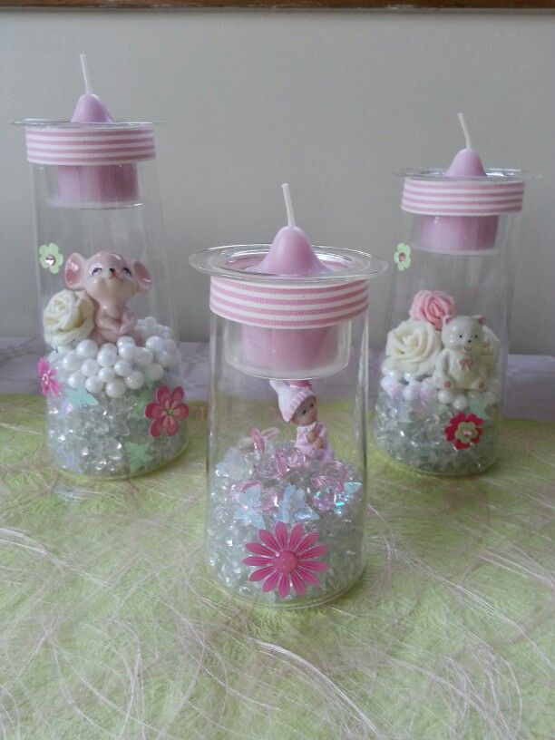 Trio Clearly Partylite pour baby shower Pour en voir plus / to see more: www.partylite.biz/francisguay