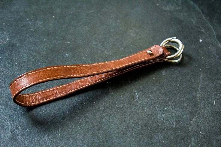 DIY Leather keychain - find out how to make it on my blog Florine Leather and Style