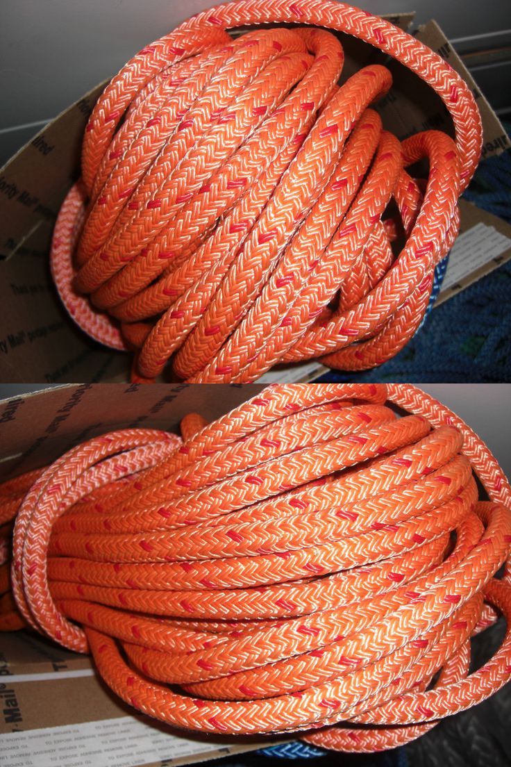 Ropes Cords and Slings 50816: 87 Feet Of 7/16 Inch Orange Coated Amsteel Ii Dyneema Double Braided Samson Rope BUY IT NOW ONLY: $113.1