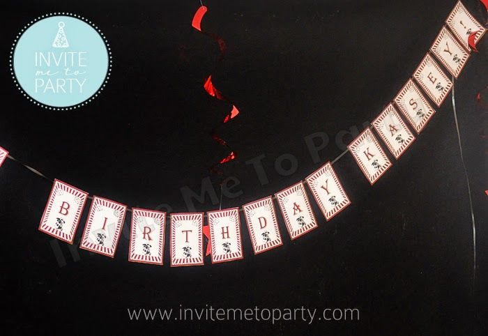 Vintage Magical Party Happy Birthday  Bunting Printables Invite Me To Party: Vintage Magical Party