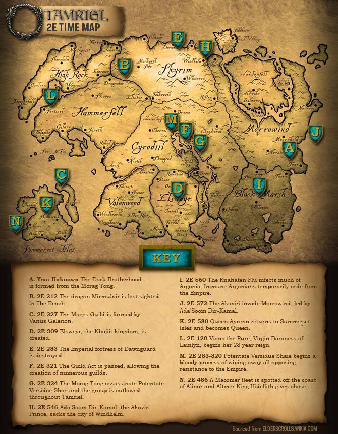 Elder Scrolls Online 2nd Era Map