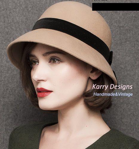 pure wool felt hat bucket hat British style