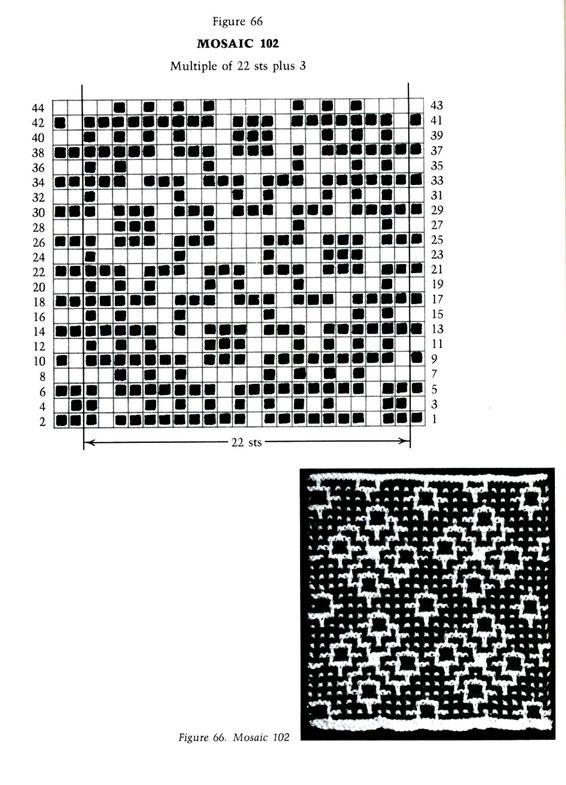 Mosaic Knitting Barbara G. Walker (Lenivii gakkard) Mosaic Knitting Barbara G. Walker (Lenivii gakkard) #91