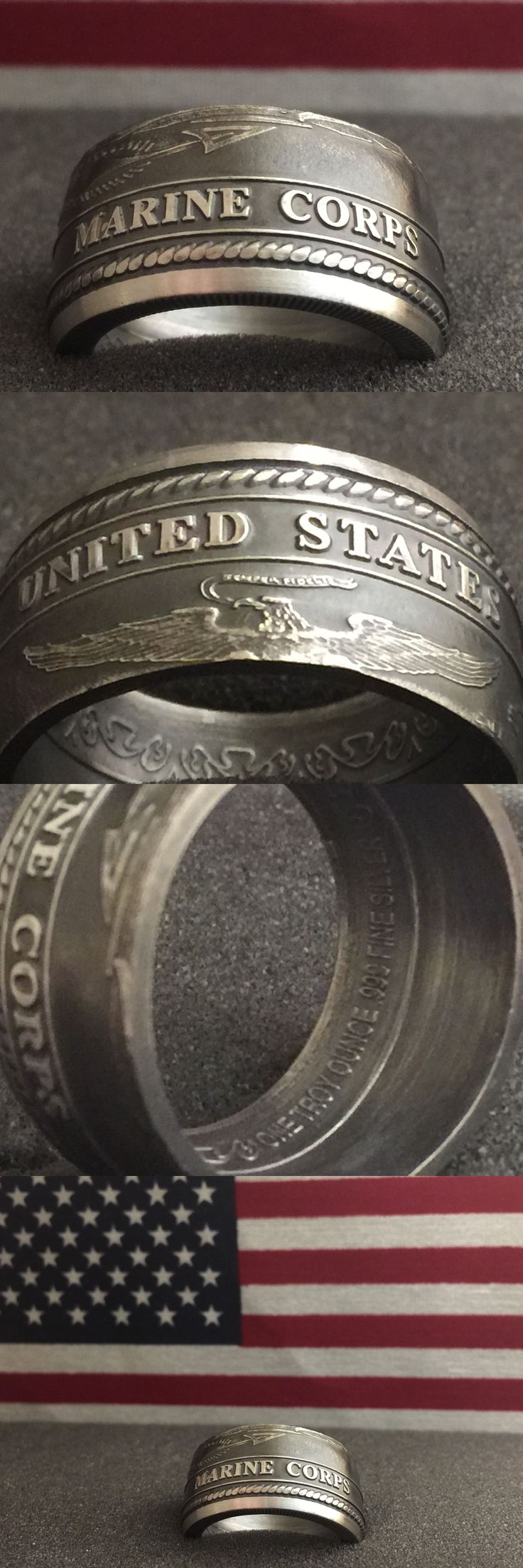 Rings 110666: 24K Pure Silver Coin Ring | Us Marine Corps | Sizes 5-15 -> BUY IT NOW ONLY: $85.0 on eBay!