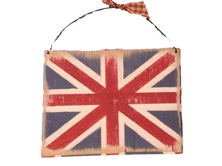 British Union Jack Decoration - Country Rustic Great Britain Flag Red White & Blue Door Plaque by SuzanneLake on Etsy https://www.etsy.com/listing/219452443/british-union-jack-decoration-country