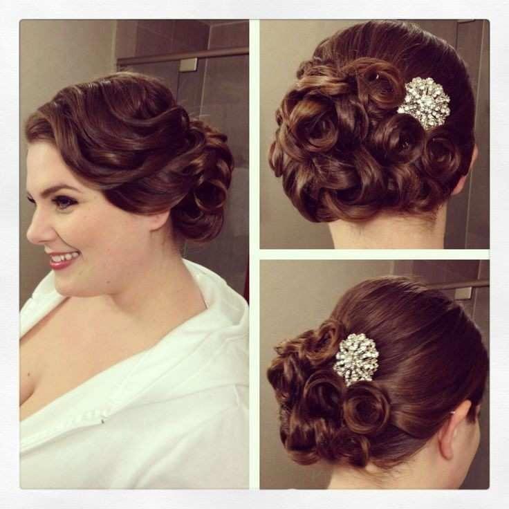 Pin Curls Hairstyles Elegant Vintage Side Updo Vintage Hairstyle Pin Curls Bridal | Hairstyle Ideas for Everyone #weddinghairstyleswithflowers
