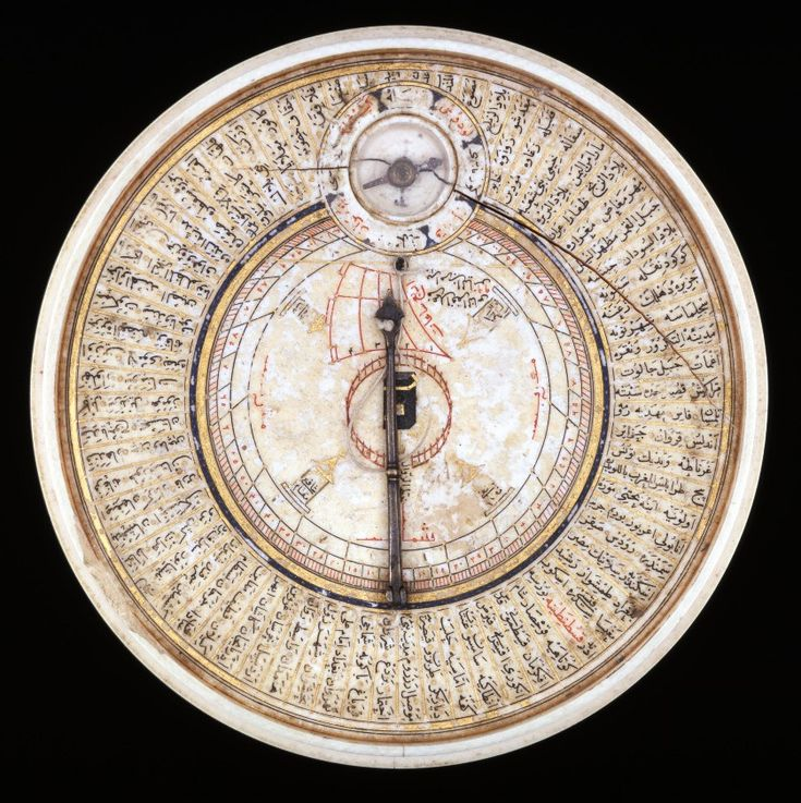 Ivory sundial and Qibla pointer . Turkey . 1582-3