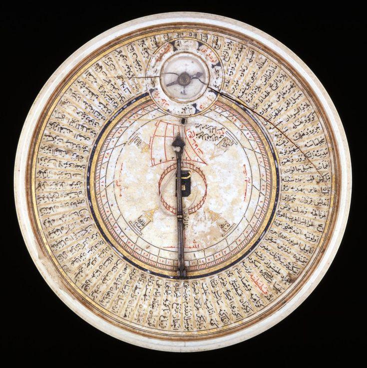 Ivory sundial and Qibla pointer . Turkey . 1582-3
