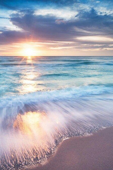 The ocean meets the shore