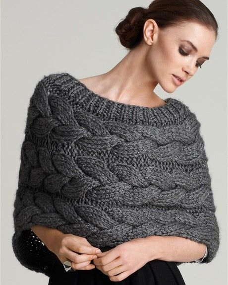 Adam Cableknit Shrug (Heather Grey)