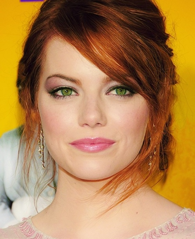 I would love this hair colour! Ginger hair and green eyes ...