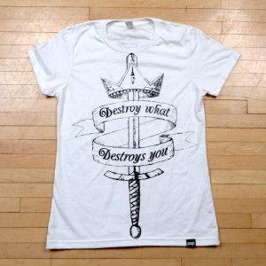 Destroy what Destroys you organic t-shirt