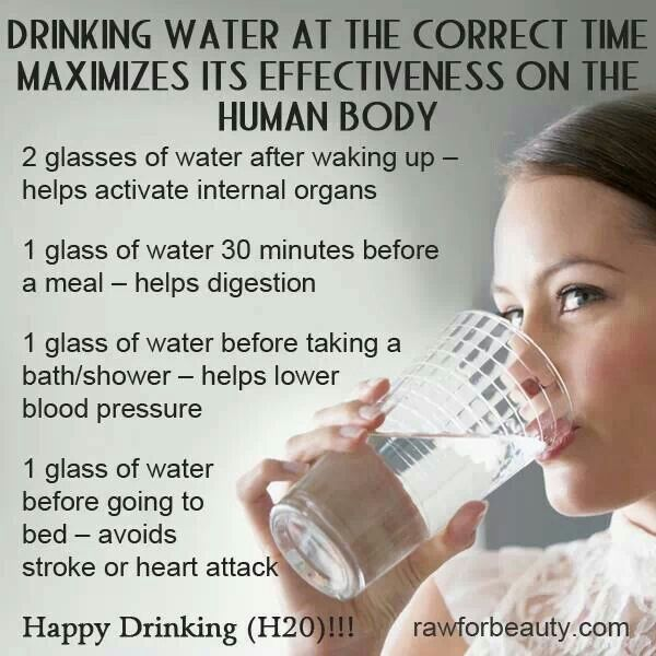 The benefits of water and maximizing effectiveness on the body by drinking at certain times!