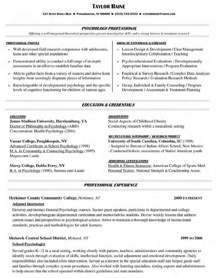 Collection Of solutions College Teaching Resume format