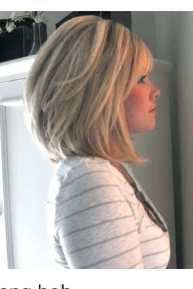 super cute long bob... I would totally do this if I had the guts to cut my long hair!