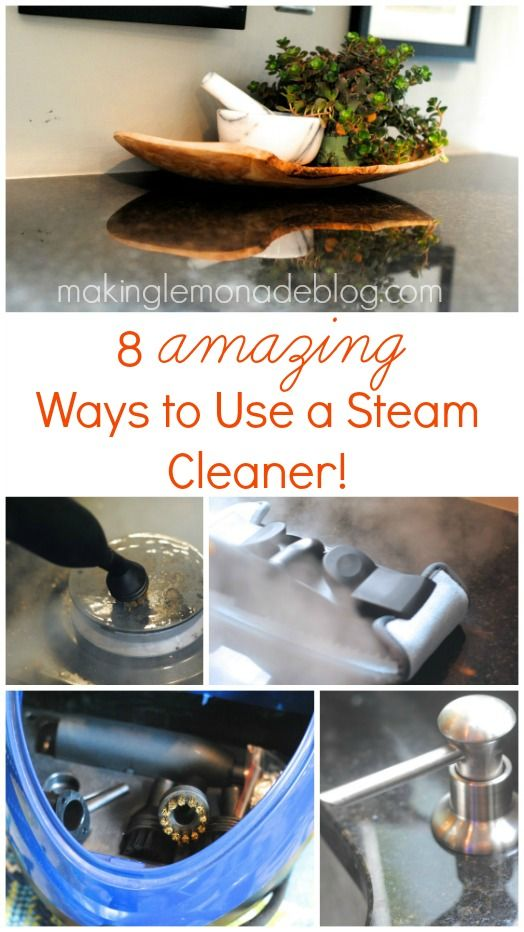 8 AMAZING Uses for a Steam Cleaning Machine: countertops, floors, drapes, wallpaper, and more!