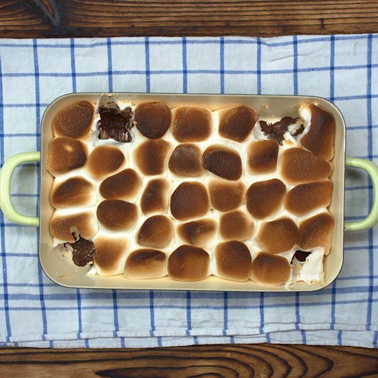 Marshmallow Dip mit Schokoladencreme   – Snacks für den Serienabend
