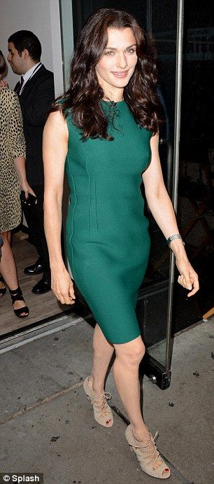 Rachel Weisz in Lanvin dress, Gianvito Rossi shoes - At 'Good Morning America' in New York City.  (July 2012)