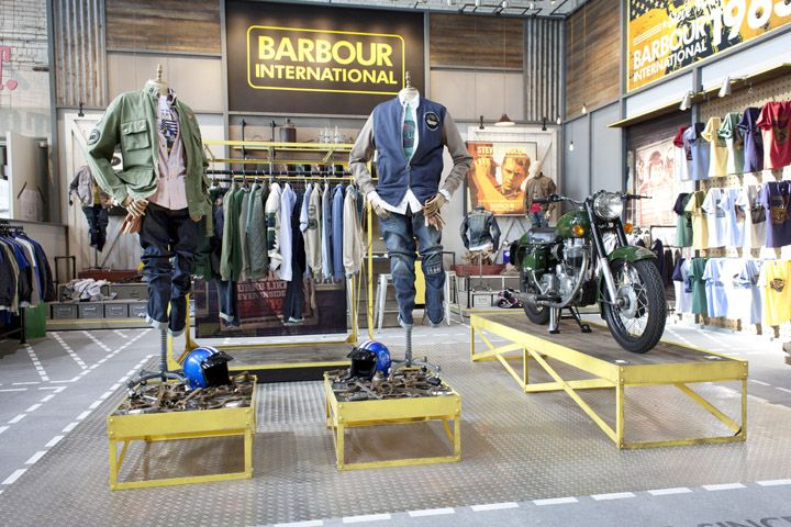 VM | Visual Merchandising | Retail Display | Retail Fashion Display | VM Fashion | Retail Design | Bread & Butter Berlin 2013 Summer – BARBOUR by Shed