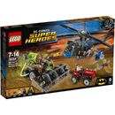 """Lego Superheroes: Batman: Scarecrow Harvest of Gas Mask Batman and Blue Beetle are racing to help the frightened farmer in the Batcopter. Shoot the harvester before it mows down the tractor""""but watch out for Scarecrows fear gas stud shooter! Stage http://www.MightGet.com/january-2017-11/lego-superheroes-batman-scarecrow-harvest-of.asp"""