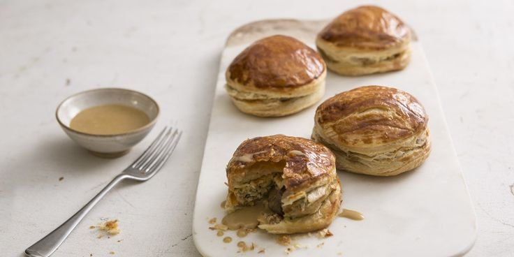A delicious chicken pie recipe, these little pastry bombes from chef Andy Waters make a fantastic Sunday lunch dish.