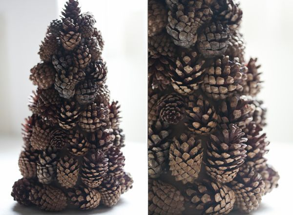 Pinecone Tree Craft - Sugar and Charm - sweet recipes - entertaining tips - lifestyle inspiration