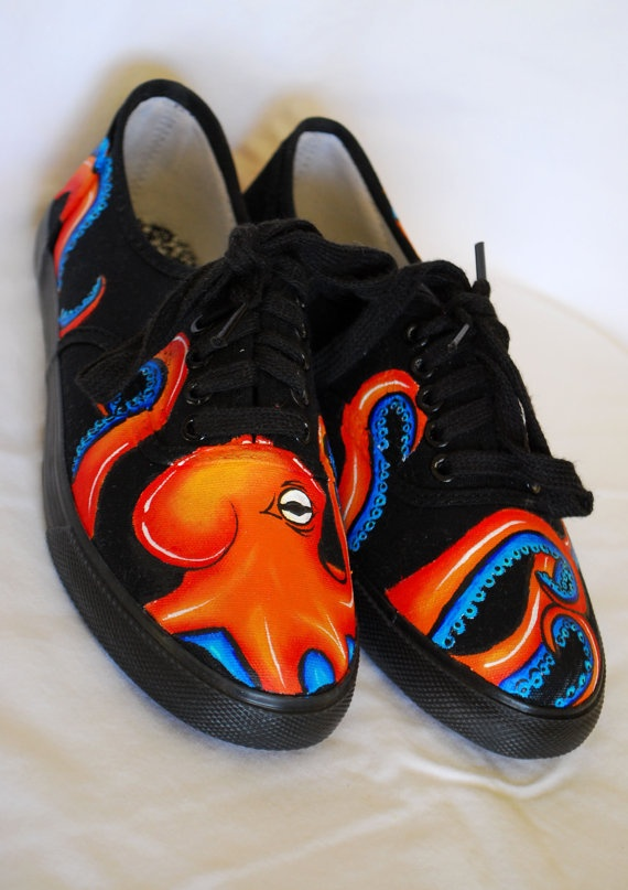 Octopus Hand Painted Shoes |Pinned from PinTo for iPad|