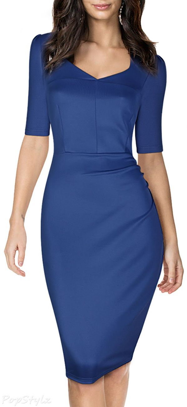 Short Sleeve Bodycon Pencil Dress