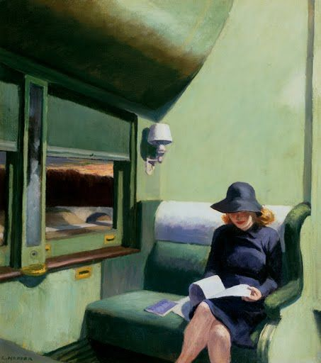 Edward Hopper, Compartment C, Car 293.  1938, IBM Corporation Collection, Armonk, New York.