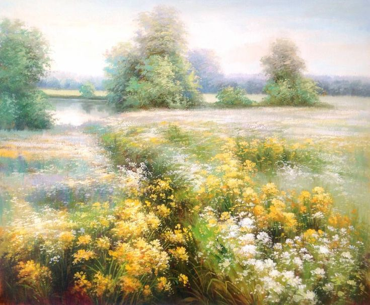 Картины (живопись) : Цветущий луг. Автор Руслан Александрович Смородинов
